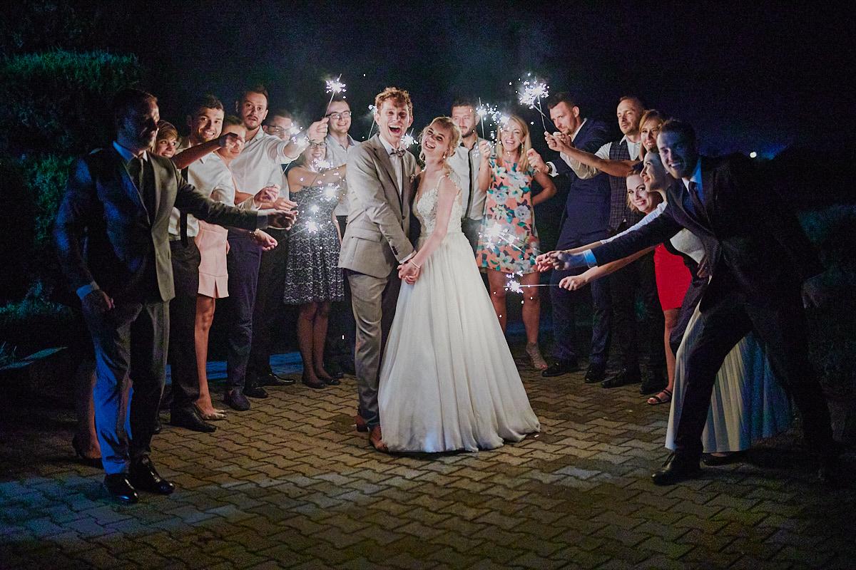 zimne ognie podczas wesela Głogów